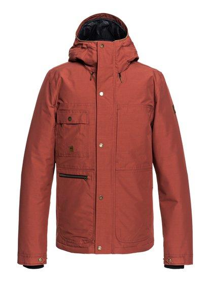 Canyon - parka à capuche imperméable pour homme - rouge - quiksilver
