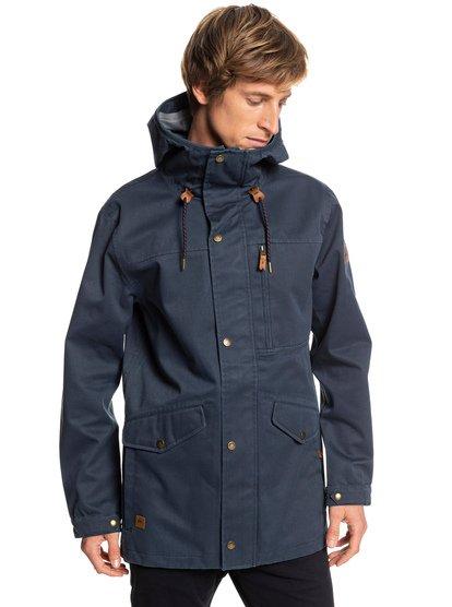 Cascade 3l - parka à capuche imperméable pour homme - bleu - quiksilver