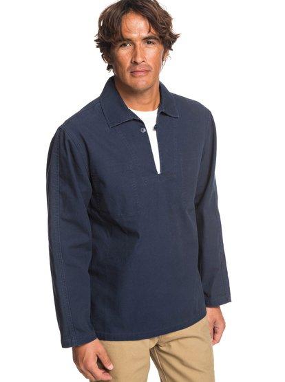 Eskota - blouse en toile pour homme - bleu - quiksilver