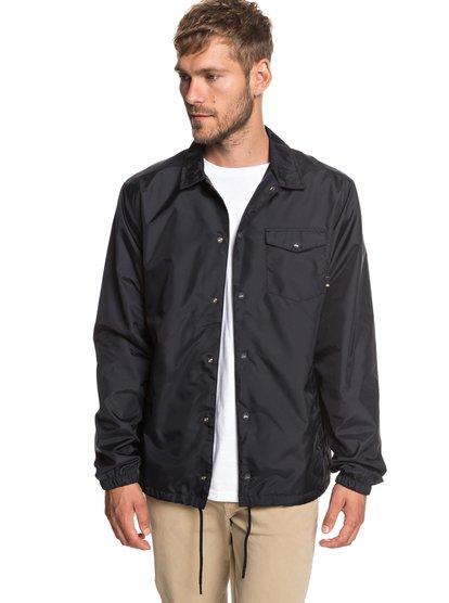 50y - veste de survêtement déperlante pour homme - noir - quiksilver