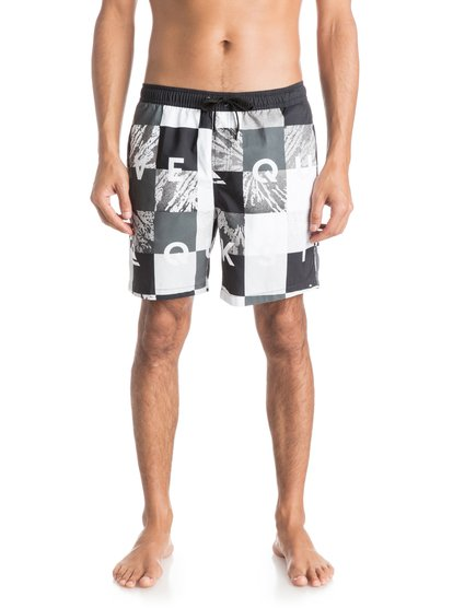 "Quiksilver Men's Check Remix 17"" Volley Boardshorts"
