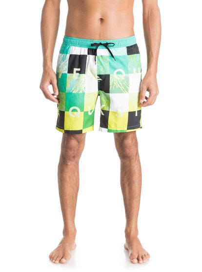 Mens Check Remix 17 Volley BoardshortsМужские пляжные шорты REPREVE® Check Remix 17 от Quiksilver. <br>ХАРАКТЕРИСТИКИ: эластичный пояс, технологичный материал REPREVE™ из переработанной синтетики сертифицированного происхождения, длина бокового шва – 43,2 см (17), задний прорезной карман с клапаном. <br>СОСТАВ: 100% переработанный полиэстер REPREVE®.<br>