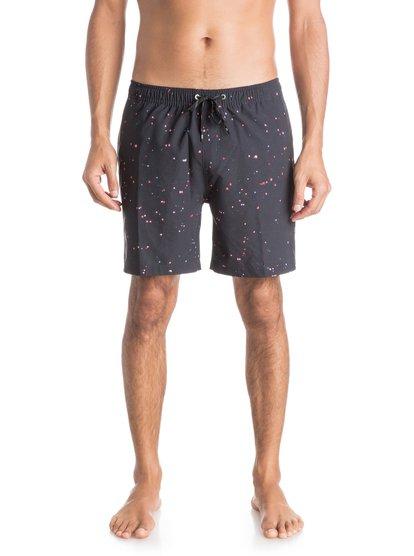 Mens Glitched 17 Volley BoardshortsМужские пляжные шорты REPREVE® Glitched 17 от Quiksilver. <br>ХАРАКТЕРИСТИКИ: эластичный пояс, технологичный материал REPREVE™ из переработанной синтетики сертифицированного происхождения, длина бокового шва – 43,2 см (17), задний прорезной карман. <br>СОСТАВ: 92% переработанный полиэстер REPREVE®, 8% эластан.<br>