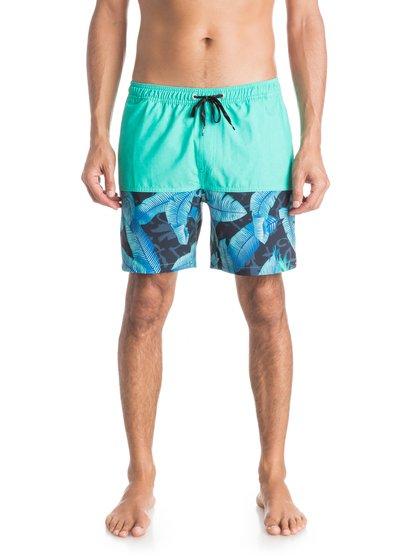 Mens Half Garden 17 Volley BoardshortsМужские пляжные шорты REPREVE® Half Garden 17 от Quiksilver.ХАРАКТЕРИСТИКИ: эластичный пояс, технологичный материал REPREVE™ из переработанной синтетики сертифицированного происхождения, длина бокового шва – 43,2 см (17), панельный крой.СОСТАВ: 92% переработанный полиэстер REPREVE®, 8% эластан.<br>