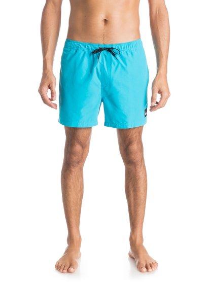 Mens Everyday 15 Volley BoardshortsМужские пляжные шорты REPREVE® Everyday 15 от Quiksilver. <br>ХАРАКТЕРИСТИКИ: эластичный пояс, технологичный материал REPREVE™ из переработанной синтетики сертифицированного происхождения, длина бокового шва – 38,1 см (15), задний прорезной карман. <br>СОСТАВ: 100% переработанный полиэстер REPREVE®.<br>