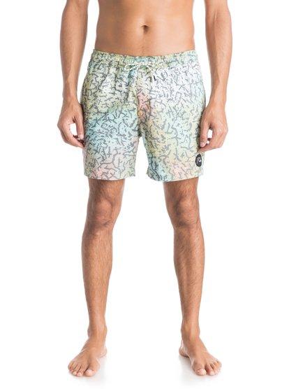 Mens Ghetto Mix 16 Volley BoardshortsМужские пляжные шорты Ghetto Mix 16 от Quiksilver.ХАРАКТЕРИСТИКИ: эластичный пояс, эластичная и удобная синтетика из хлопка и полиэстера, длина бокового шва – 40,6 см (16), задний накладной карман.СОСТАВ: 53% хлопок, 41% полиэстер, 6% эластан.<br>