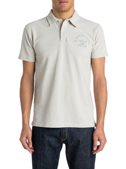Final LegМужская рубашка-поло Final Leg от Quiksilver. Характеристики: пикейный меланжевый хлопок, вышивка на груди, воротник в рубчик. <br>СОСТАВ: 100% хлопок.<br>