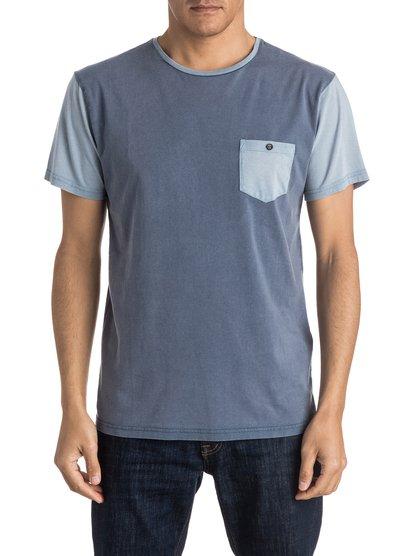 Acid Blocked - tee-shirt à poche pour homme - bleu - quiksilver