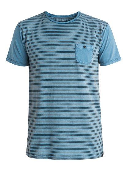 Acid Striped - tee-shirt à poche pour homme - bleu - quiksilver