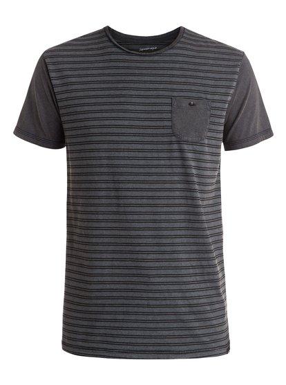 Acid Striped - tee-shirt à poche pour homme - noir - quiksilver