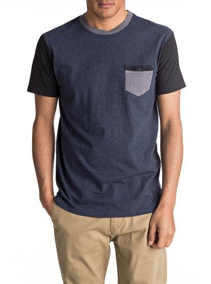 Baysic - tee-shirt à poche pour homme - bleu - quiksilver