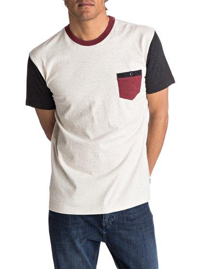 Baysic - tee-shirt à poche pour homme - blanc - quiksilver