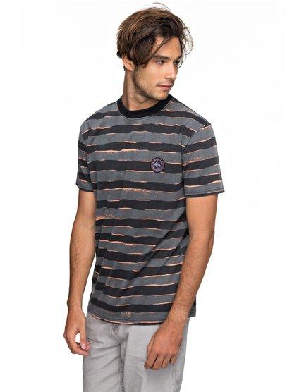 Allover Mad wax - t shirt col rond pour homme - noir - quiksilver