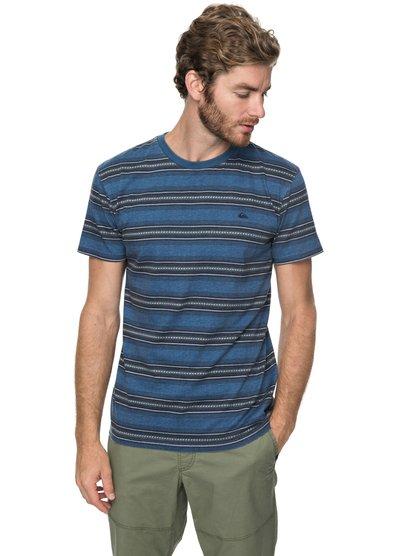 Bayo - t shirt col rond pour homme - bleu - quiksilver