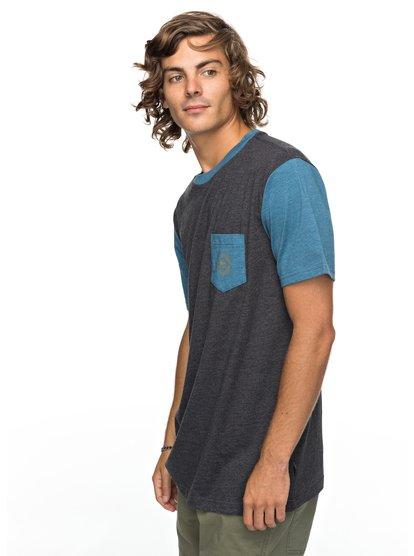Baysic - t shirt avec poche pour homme - noir - quiksilver