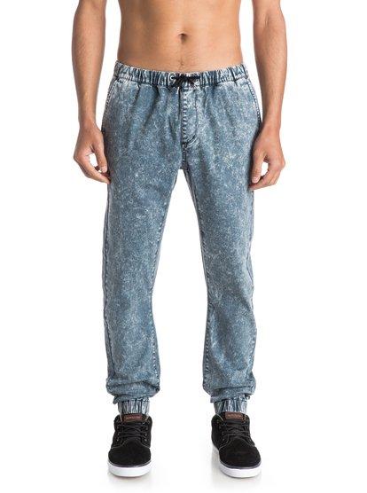 Outta My Way New JoggersМужские штаны для бега Outta My Way New от Quiksilver.ХАРАКТЕРИСТИКИ: эластичный пояс и края штанин, накладной задний карман, черный пояс на утяжке, узкий крой с клиновидной вставкой-ластовицей.СОСТАВ: 98% хлопок, 2% эластан.<br>