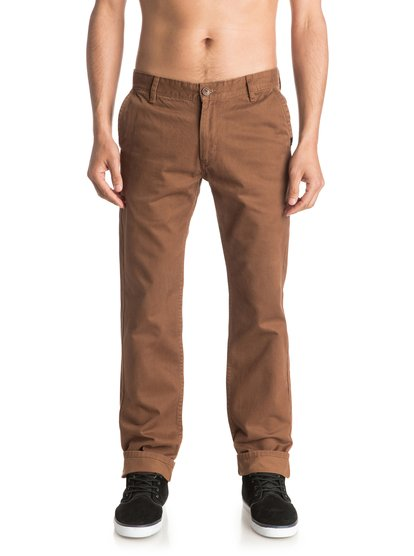 Everyday - pantalon chino pour homme - marron - quiksilver