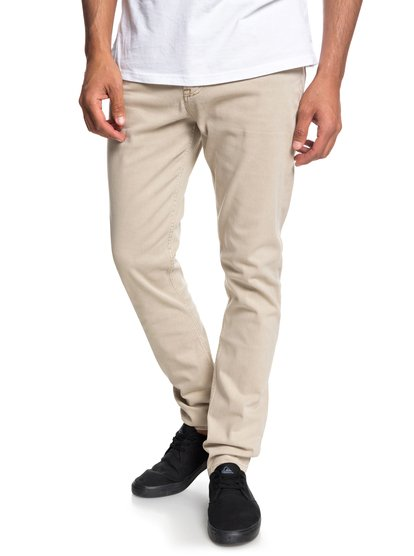 Dawn To dust - pantalon coupe slim pour homme - marron - quiksilver
