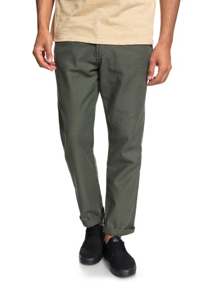 Mitake - pantalon treillis pour homme - marron - quiksilver