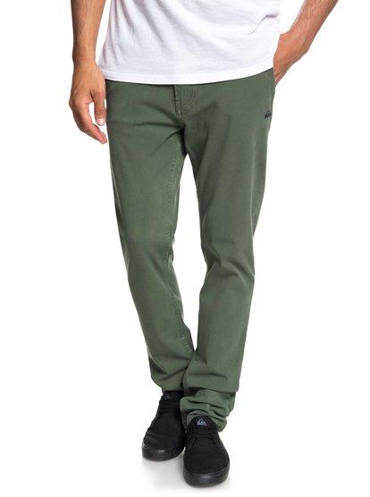 Krandy - pantalon chino pour homme - marron - quiksilver