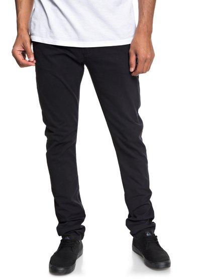 Krandy - pantalon chino pour homme - noir - quiksilver