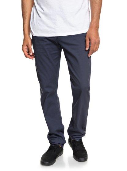 Krandy - pantalon chino pour homme - bleu - quiksilver