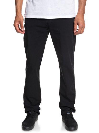 Krandy - pantalon straight pour homme - noir - quiksilver