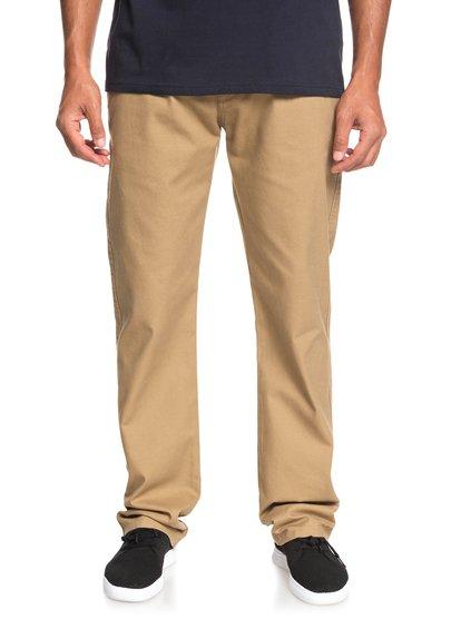 Gastelu - pantalon chino pour homme - marron - quiksilver