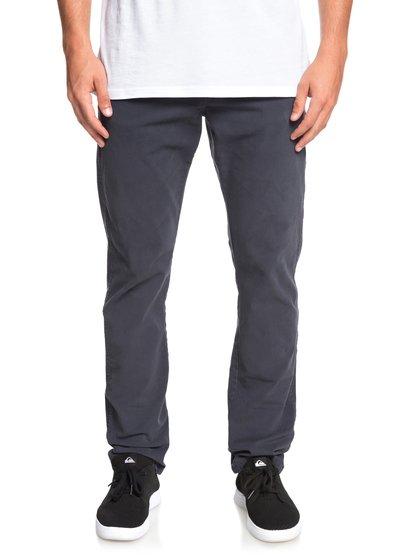 Krandy - pantalon straight pour homme - bleu - quiksilver