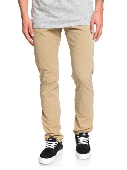 Krandy - pantalon straight pour homme - marron - quiksilver