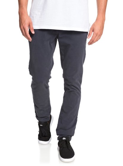 Krandy - pantalon chino slim pour homme - bleu - quiksilver
