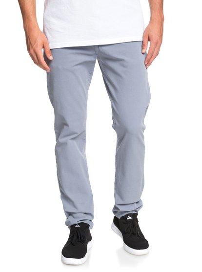 Krandy - pantalon chino droit pour homme - bleu - quiksilver