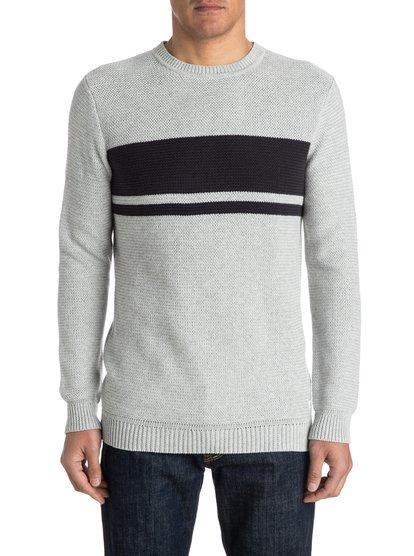 Invasion StripesМужской свитер Invasion Stripes от Quiksilver. Характеристики: мягкая пряжа, элементы крученой вязки, дизайн в полоску спереди. <br>СОСТАВ: 100% хлопок.<br>