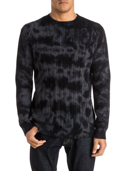 Tell Tide SweaterМужской свитер Tell Tide от Quiksilver. <br>ХАРАКТЕРИСТИКИ: округлый вырез, калибр вязки – 7, основная вязка «косичкой», неровная окраска tie-dye. <br>СОСТАВ: 100% хлопок.<br>