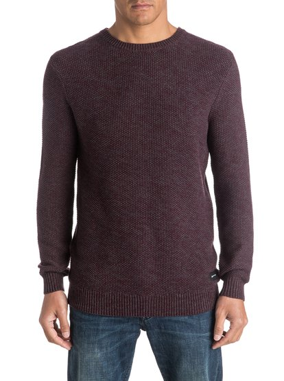 Вафельный свитер Run AroundЭтот мужской свитер выделяется своей вафельной фактурой, а благодаря классическому стандартному крою — чуть удлиненному на современный манер — сочетается с любым низом. Отделка в двухцветный рубчик ему тоже очень идет, правда?<br>