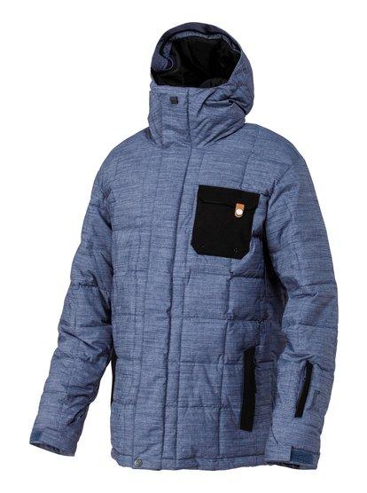 Hemlock 10K JktМужская сноубордическая куртка Quiksilver из зимней технологичной коллекции для катания 2014. Характеристики: мембрана Dry-Flight 10K (10 000 мм / 10 000 г/кв .м), нейлон неровного плетения, утеплитель: 350 г (тело, рукава), 100 г (капюшон), тисненая подкладка из тафты.<br>