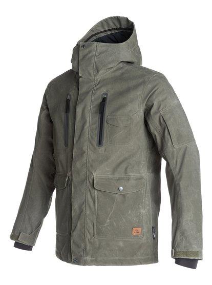 Dark And StormyМужская сноубордическая куртка Dark And Stormy из новой сноубордической коллекции Quiksilver. ХАРАКТЕРИСТИКИ: полностью проклеенные швы, сеточная вентиляция, капюшон с регулировкой, система прикрепления штанов к куртке, защита подбородка от натирания молнией из микрофибры. СОСТАВ: 100% нейлон.<br>