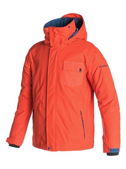 Mission PlainМужская сноубордическая куртка Mission Plain из новой сноубордической коллекции Quiksilver. ХАРАКТЕРИСТИКИ: критические швы проклеены, сеточная вентиляция, капюшон с регулировкой, система прикрепления штанов к куртке, защита подбородка от натирания молнией из микрофибры. СОСТАВ: 100% нейлон/полиамид.<br>