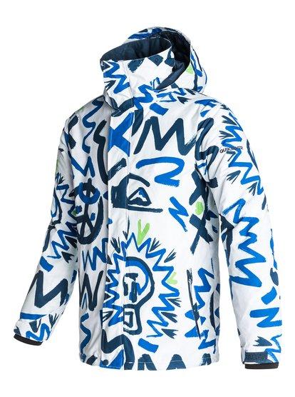 Mission PrintedМужская сноубордическая куртка Mission Printed из новой сноубордической коллекции Quiksilver. ХАРАКТЕРИСТИКИ: критические швы проклеены, сеточная вентиляция, капюшон с регулировкой, система прикрепления штанов к куртке, защита подбородка от натирания молнией из микрофибры. СОСТАВ: 100% полиэстер.<br>