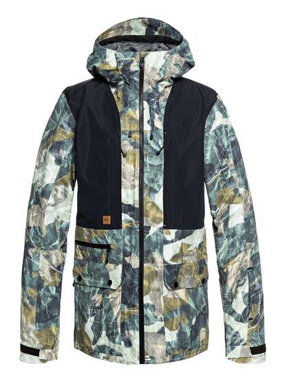 Black Alder 2l gore-Tex - veste de snow style parka pour homme - marron - quiksilver