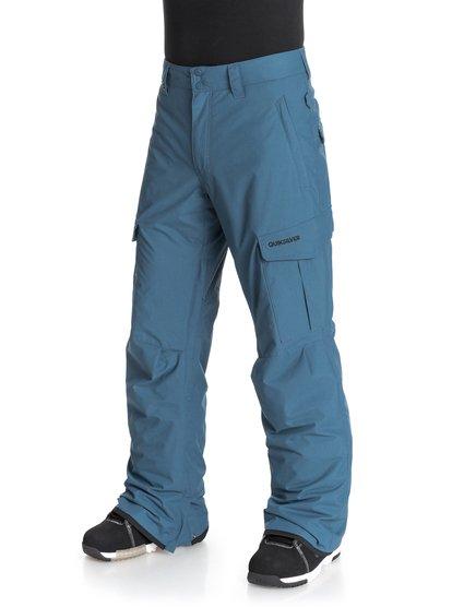 Mission INSМужские сноубордические штаны Mission INS из новой сноубордической коллекции Quiksilver. ХАРАКТЕРИСТИКИ: критические швы проклеены, сеточная вентиляция, регулировка талии, изнанка пояса из тафты с начесом, гейтеры из синтетической тафты. СОСТАВ: 100% нейлон/полиамид.<br>