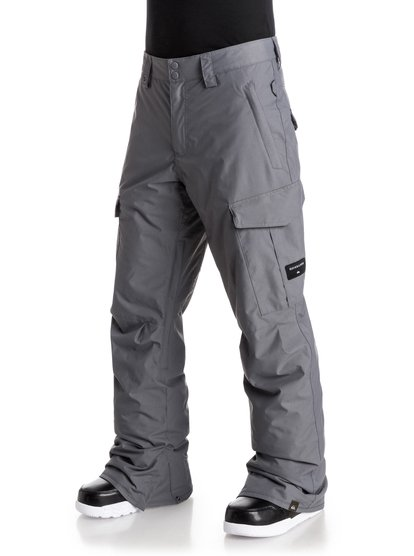 Сноубордические штаны Porter InsPerfect for cold days on the mountain, the Porter Ins snow pants for men are insulated with Warmflight® level 2 technology for low-bulk warmth and have been crafted with 10K Quiksilver DryFlight® technology waterproofing for protection against the elements. An easy-to-wear regular fit allows space to layer and is complemented by critically-taped seams for extra waterproofing in the most exposed areas.<br>