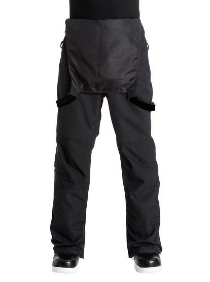 Сноубордические штаны-комбинезон FoundCombining streetwear-styling with technical firepower, the Found bib snow pants for men feature 15K Quiksilver DryFlight® technology for solid and dependable waterproof protection in normal wet and snowy weather conditions. An easy-to-wear regular fit is complemented by shell construction for lightweight all-season shredding that can be layered. The all-over bib protection is reinforced with critically-taped seams for extra protection in the most exposed areas and mesh-lined vents that make for easy temperature control.<br>