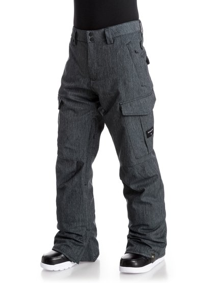Сноубордические штаны Porter DenimCrafted with a denim-look polyester twill, the Porter Denim snow pants for men feature our classic regular fit that suits everyone and provides a comfortable, relaxed cut that's not too baggy but leaves space for layering. 10K Quiksilver DryFlight® technology waterproofing provides reliable waterproof and breathable protection and Warmflight® level 2 insulation offers low-bulk warmth.<br>