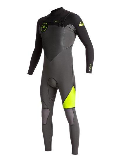 4/3mm Syncro plus - combinaison de surf intégrale pour homme - noir - quiksilver