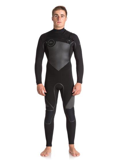 5/4/3mm Syncro Plus - Combinaison de surf zip poitrine pour Homme - Noir - Quiksilver