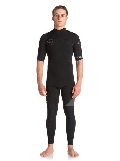 2mm Syncro Series - Combinaison de surf intégrale à manches courtes pour Homme - Noir - Quiksilver