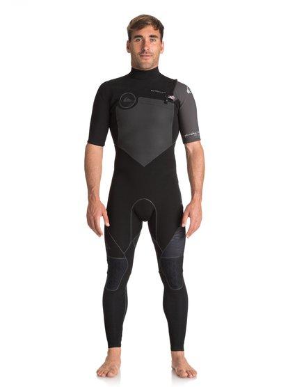 2/2mm Highline series - springsuit manches courtes zip poitrine pour homme - noir - quiksilver