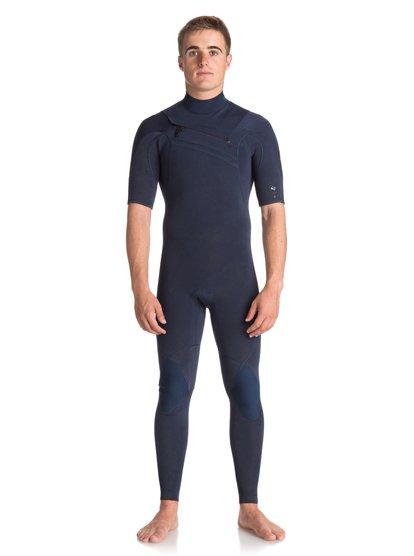 2mm Quiksilver originals monochrome - combinaison de surf intégrale à manches courtes pour homme - bleu - quiksilver