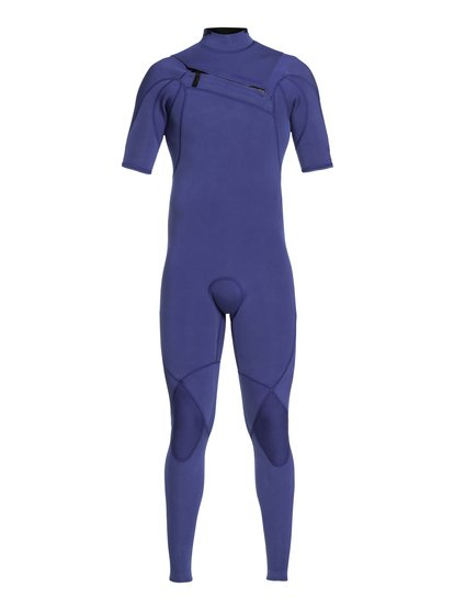 2/2mm Highline ltd monochrome - combinaison chest zip manches courtes pour homme - bleu - quiksilver